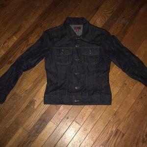 H&M L.O.G.G. Dark Wash Lightweight Jacket Size 8